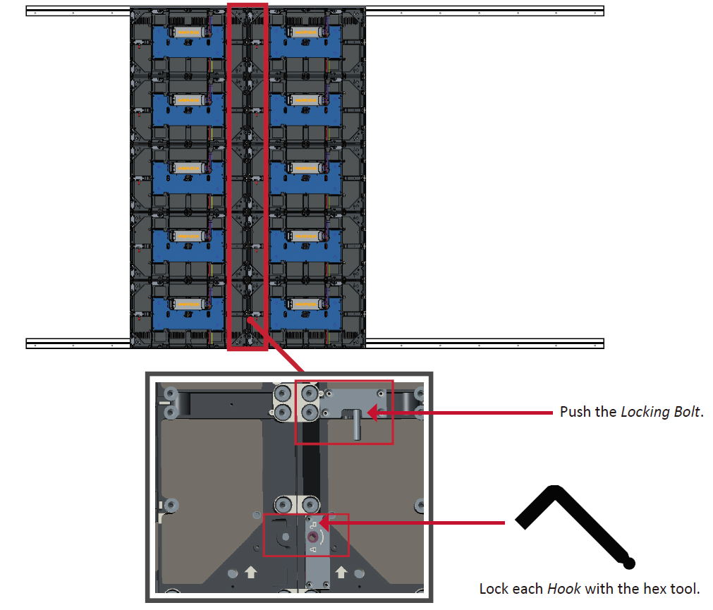LD135-151 Wall Mounting Connecting Middle Screens.png