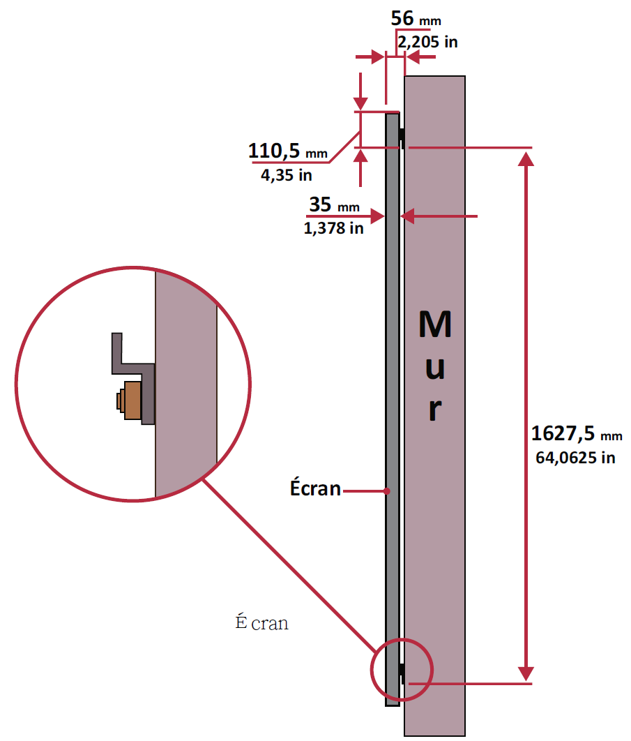 LD135-151 Wall Mounting Spacing Fr.png